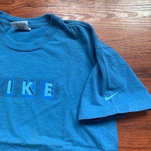 Vintage NIKE blue spellout t shirt large